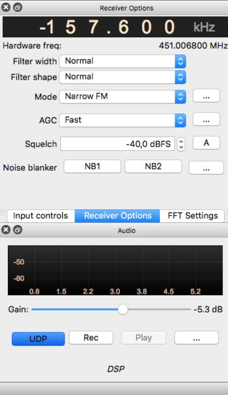 SDR: Gqrx + DSD on Mac OS X « Hugh Dev