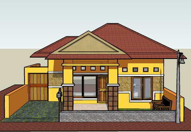 Desain Rumah Sederhana 6x12 3 Kamar