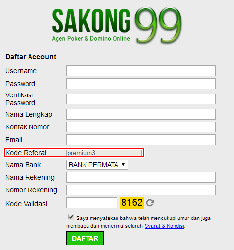 Sakong99 Cheat Sakong Akun Premium