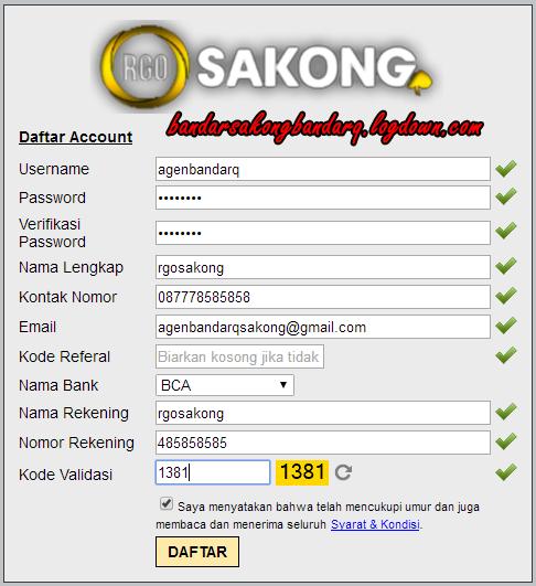 RGOSAKONG Agen BandarQ Online Indonesia