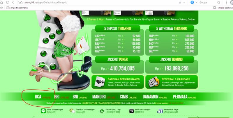 Agen Poker Sakong BandarQ Online Sakong99