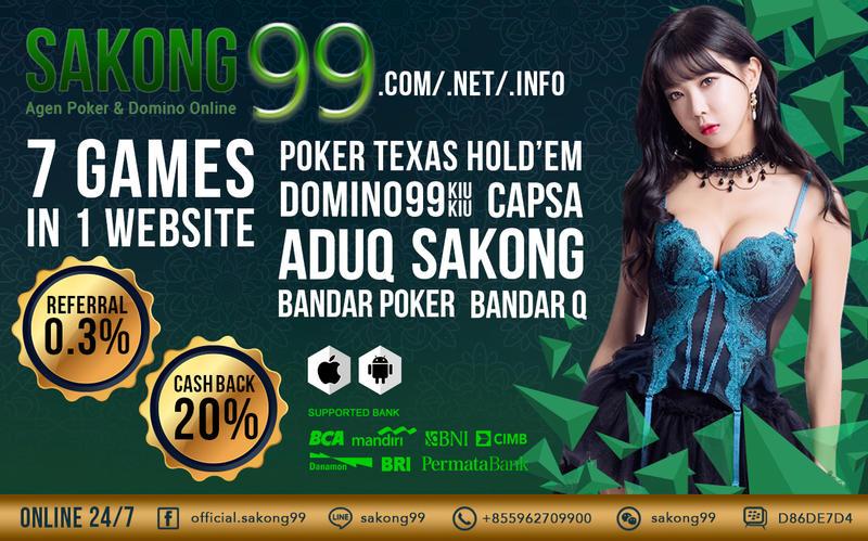 Sakong99 Agen Sakong BandarQ Domini Poker Online