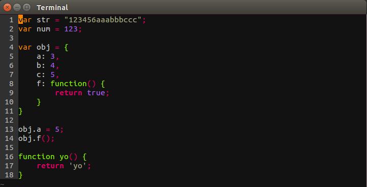 Molokai with vim-javascript-syntax