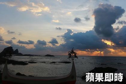 2014的第一道曙光:蘭嶼(照片來源:蘋果即時新聞)